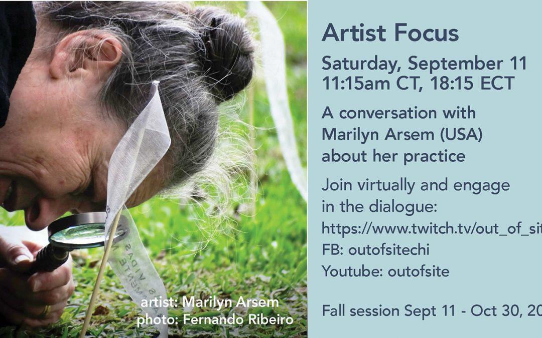 Artist Focus with Marilyn Arsem